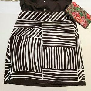 Ann Taylor Textured Zebra Print Skirt - Size 12